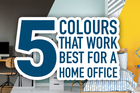 Five Colours That Work Best for a Home Office