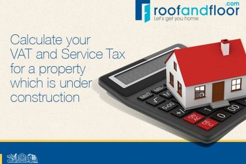 service tax and vat on under construction property